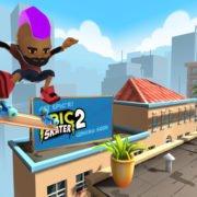 Epic Skater 2 FS Kickflip in the rooftops